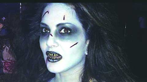 Scare fare: This is how Sunny Leone looks in a major portion of the film