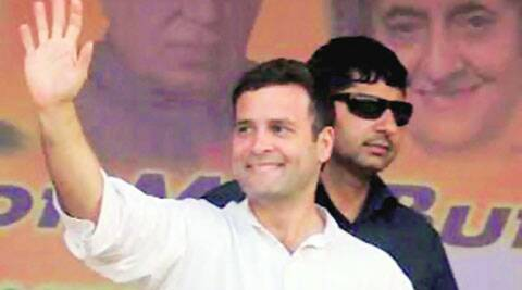 Rahul at the Congress workers' convention in Kolkata, Tuesday. PTI
