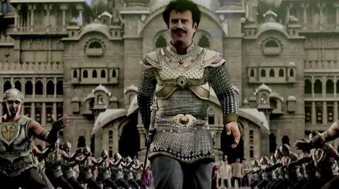 Rajinikanth  is cast as the archetypal superhero in the epic dramatisation of good versus evil.