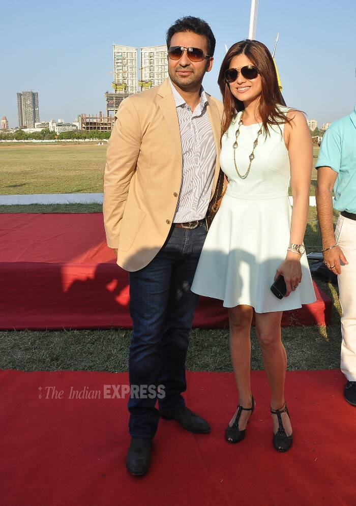 Raj, Shamita's day out sans sister Shilpa Shetty