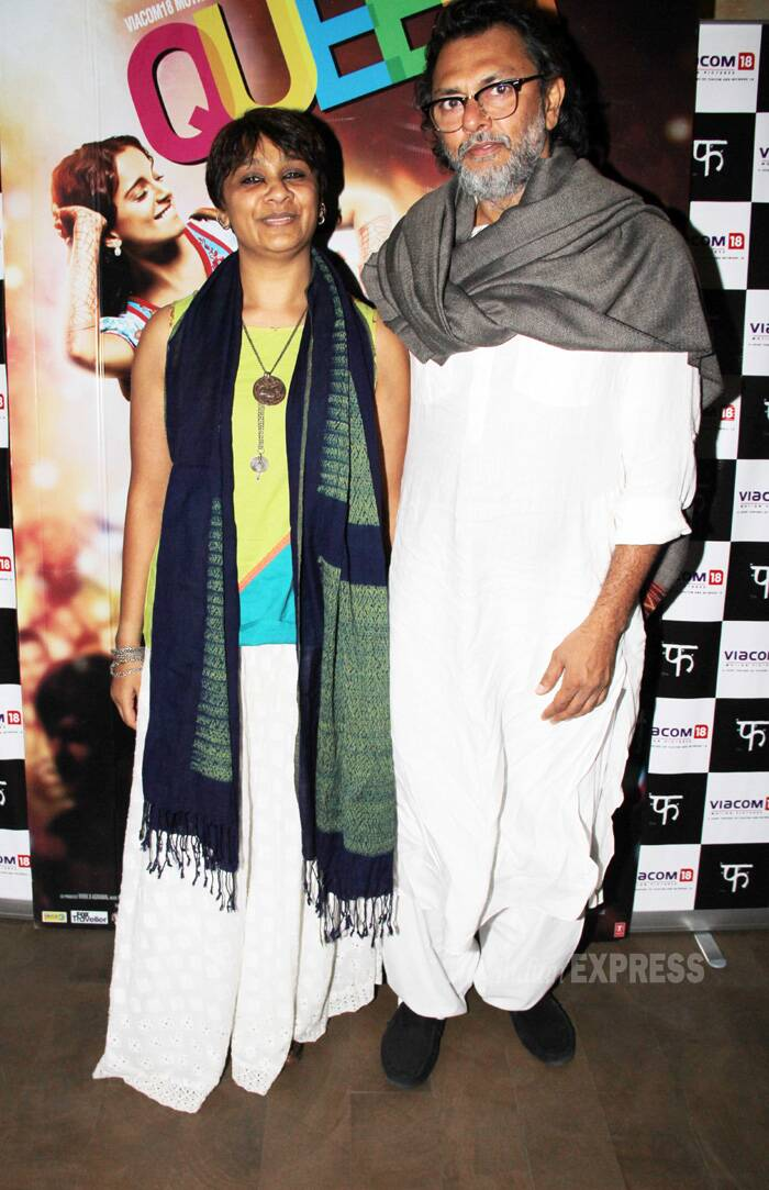 Director Rakeysh Omprakash Mehra was also at the screening with his wife PS Bharthi. (Photo: Varinder Chawla)