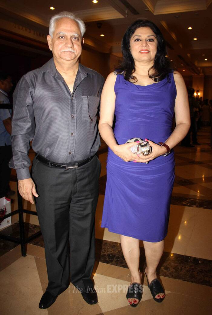 Producer Ramesh Sippy with wife Kiran Juneja. (Photo: Varinder Chawla)