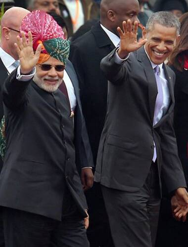 After small prod for 'friend' Modi, President Obama leaves for Saudi