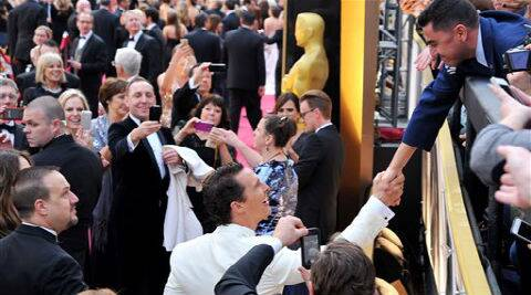 The social rules at the Oscar red carpet were as byzantine and strictly enforced as on any studio set. (AP Photo)