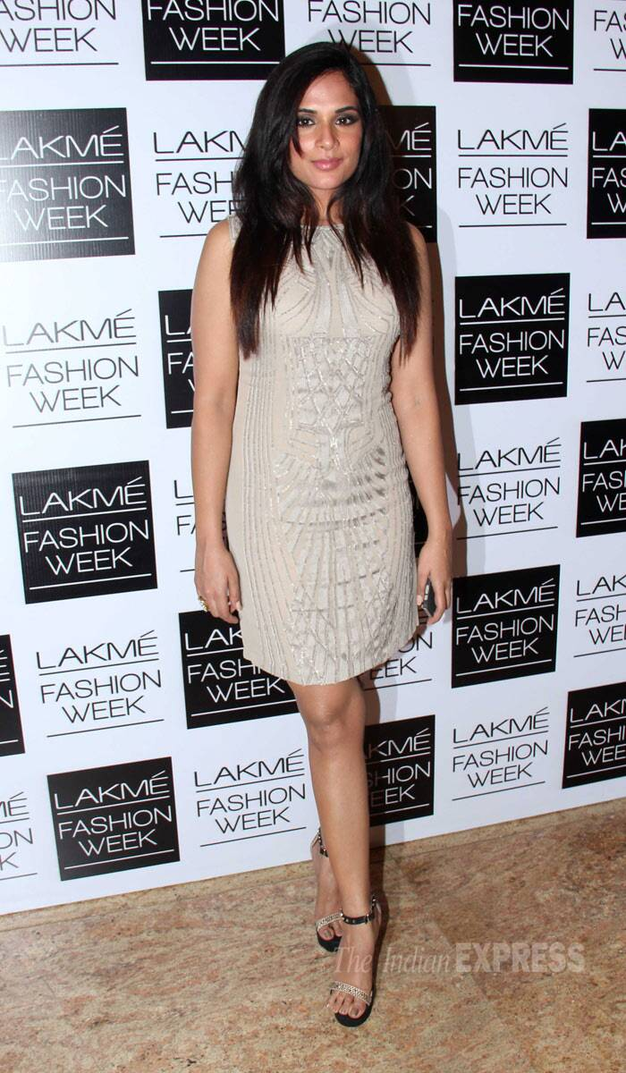Actress Richa Chadda decided to go the short route in a beige dress. (Photo: Varinder Chawla)