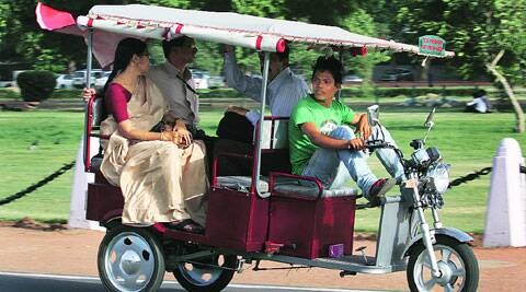 A PIL has said e-rickshaws were putting passengers at risk. (IE)