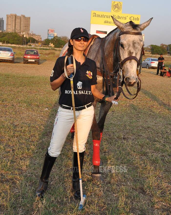 Rina Shah snapped with her horse. (Photo: Varinder Chawla)