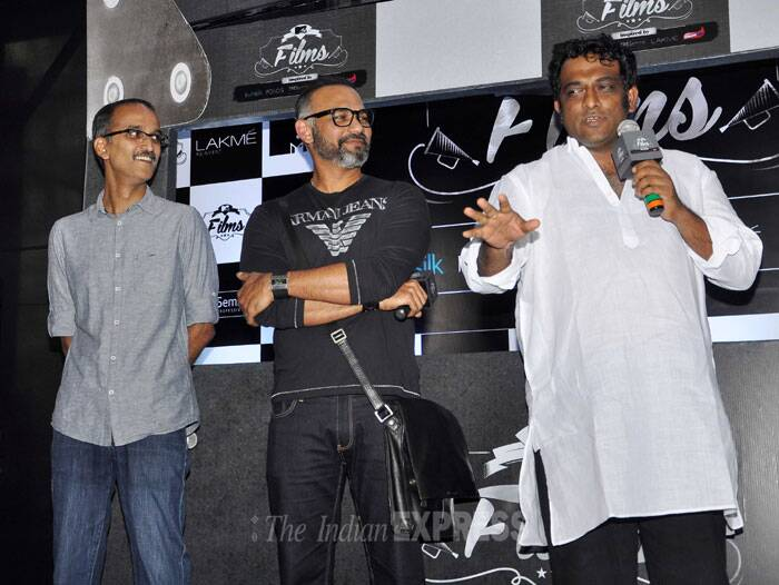 Directors Speak! 'Nautanki Saala' director Rohan Sippy, Abhinay Deo of 'Delhi Belly' and director of 'Barfi' Anurag Basu were also present. (Photo: Varinder Chawla)