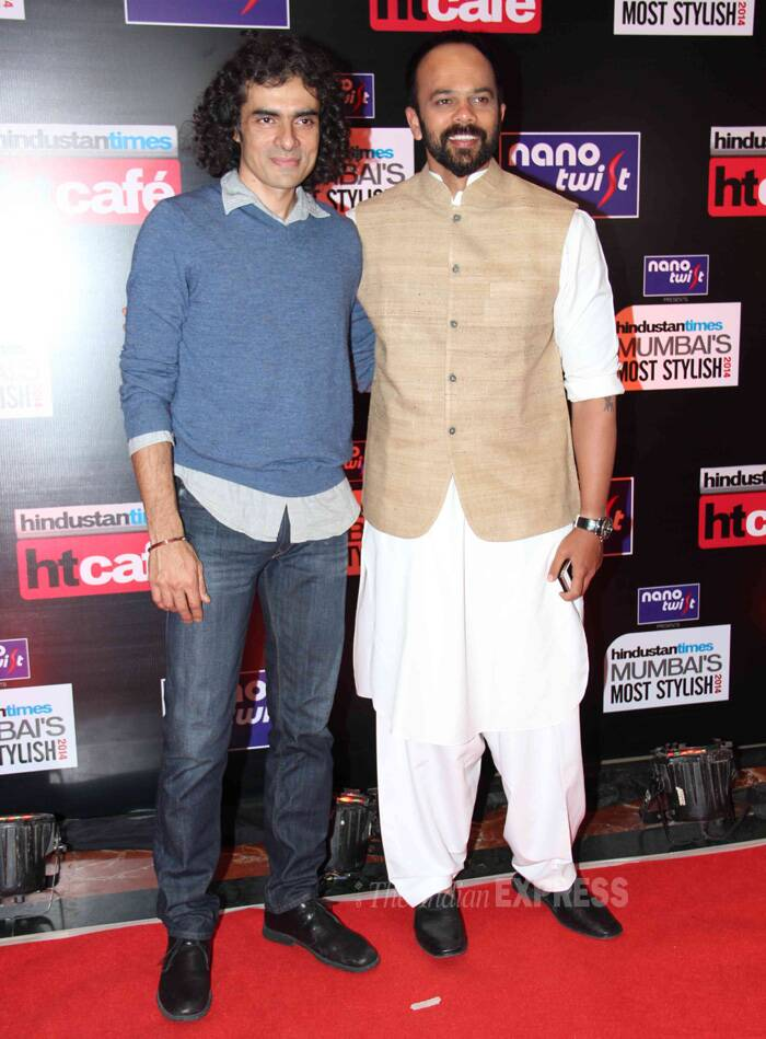Directors' cut – Imitiaz Ali poses with Rohit Shetty. (Photo: Varinder Chawla)