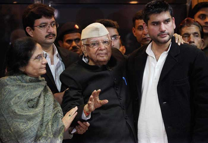 At around 11.30 PM, Rohit met Tiwari. Tiwari hugged him and spoke to him a long time, for the first time in years. The meeting went on till 2.30 AM. (PTI)