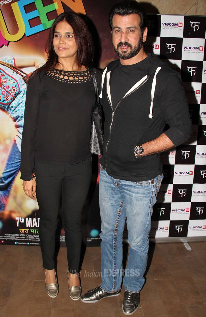 Television actor Ronit Roy was also spotted at the screening with his wife Neelam. (Photo: Varinder Chawla)