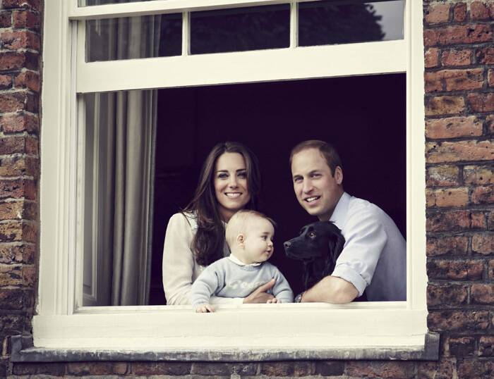 Lazing in the palace – Kate, Prince William and their son Prince George