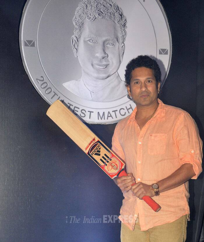 15,921 coins, each minted in 200 gm silver corresponding to the number of runs that the batting maestro scored in Tests during his glittering 24-year international career between 1989 and 2013, were released in the presence of Tendulkar. (Photo: Varinder Chawla)