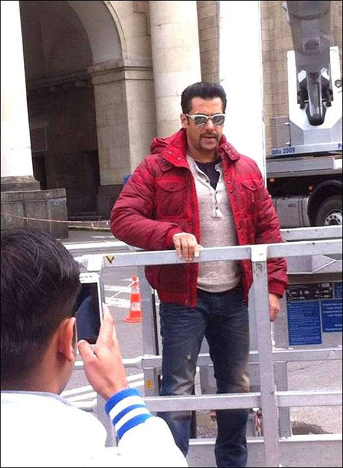 Bollywood superstar Salman Khan, whose last release 'Jai Ho' failed to impress audience, is busy shooting for his next film 'Kick' in Poland.  (Image Courtesy: Facebook)