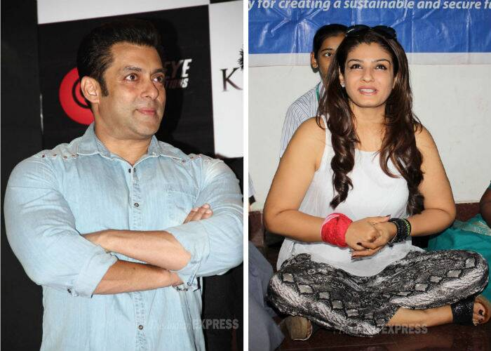 Salman Khan, Raveena Tandon's busy Friday