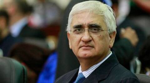 Salman Khurshid and his supporters are suspected to have sent solar lights and other equipment for distribution.