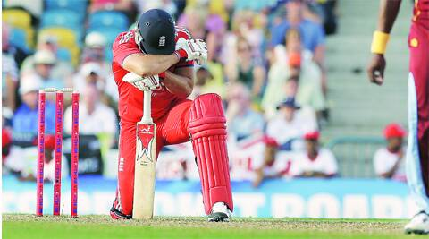 Tim Bresnan made an unbeaten 47 during England's unsuccessful chase of 171.AP