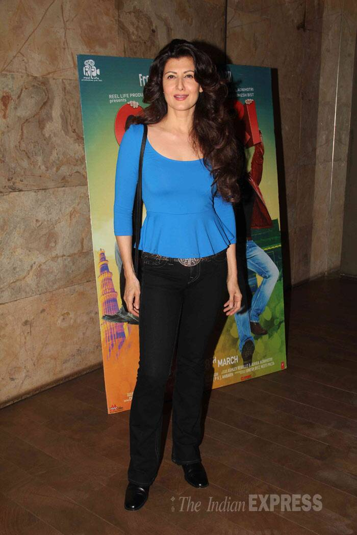 Meanwhile, Salman Khan's ex-girlfriend Sangeeta Bijlani was also seen at the special screening of Atul Agnihotri's 'O Teri' in another part of Mumbai. (Photo: Varinder Chawla)