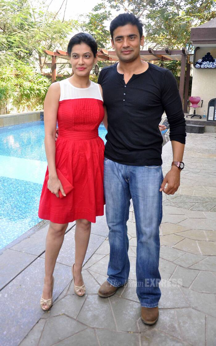 Payal Rohtagi and fiance Sangram Singh who have also appeared on 'Bigg Boss' also made it to the brunch. (Photo: Varinder Chawla)