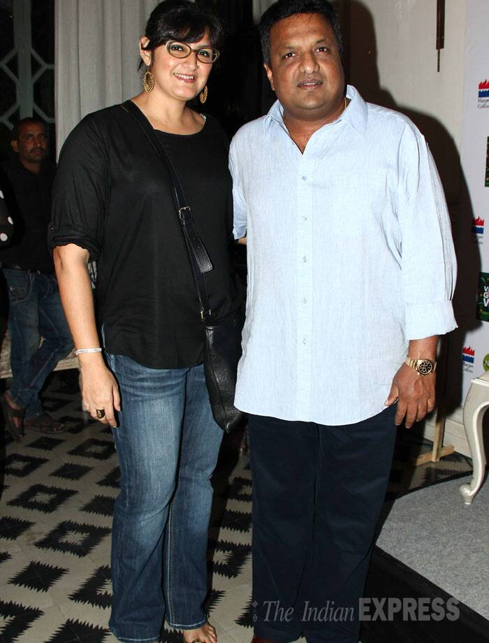 Director Sanjay Gupta of 'Shootout at Wadala' arrived with his wife Anu Lekhi. (Photo: Varinder Chawla)