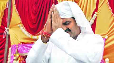 BJP's Sanjeev Ballian campaigns in Muzaffarnagar.                  Gajendra yadav