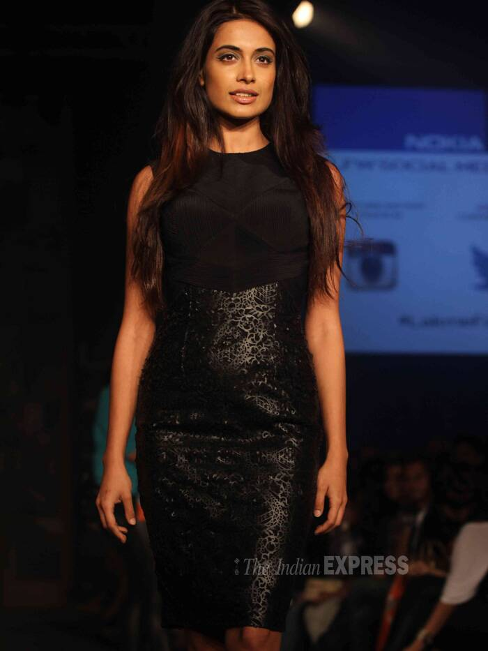 Sara Jane Diaz,who will be seen in 'O Teri', dazzled in black. (Photo: Varinder Chawla)