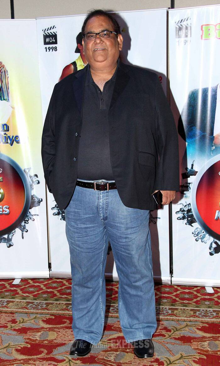 Actor-director Satish Kaushik smiled for the photogs. (Photo: Varinder Chawla)