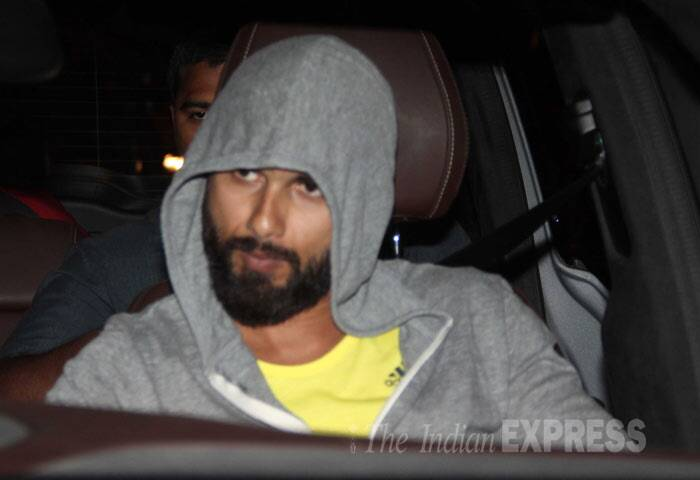 The actor, who had gone bald for the role in the Vishal Bharadwaj film, was hiding in the hoodie. (Photo: Varinder Chawla)