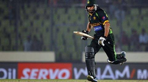 Shahid Afridi sealed the game for Pakistan with consecutive sixes in the last over (AP)