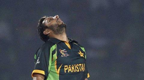 Shahid Afridi played a crucial hand against India, and against Bangladesh on Tuesday (AP)