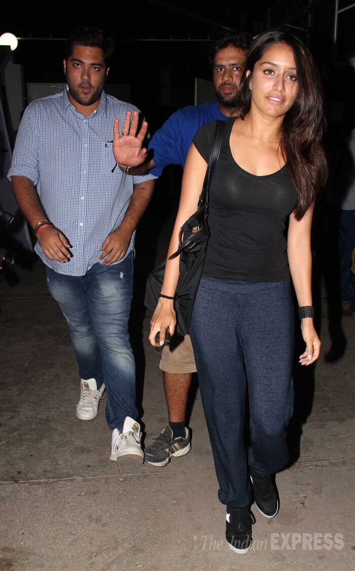 'Aashiqui 2' actress Shraddha Kapoor Was also spotted along with her 'Haider co-stars. (Photo: Varinder Chawla)