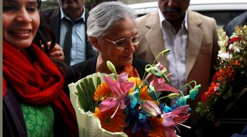 Former Chief Minister of Delhi Sheila Dikshit. (IE photo: Renuka Puri)