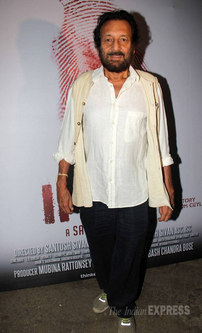 Filmmaker Shekhar Kapur put in a solo appearance. (Photo: Varinder Chawla)