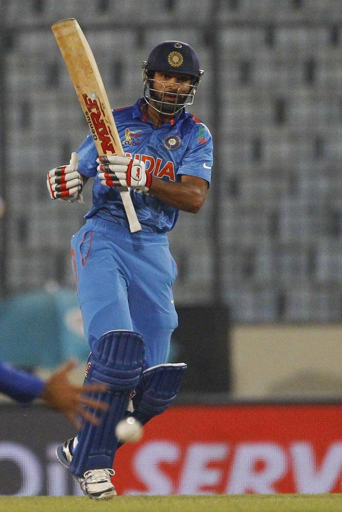 Rahane was well supported by southpaw Dhawan from the other end, who too hit a fifty (AP)