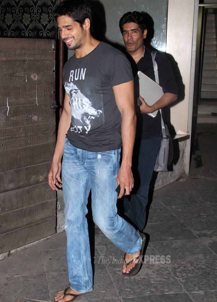 Meanwhile,  Sidharth and Manish Malhotra were spotted in the suburbs. (Photo: Varinder Chawla)