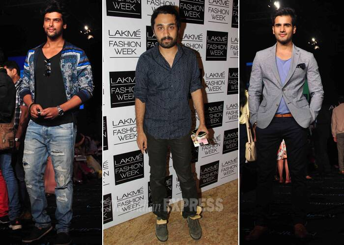 Stylish Men on th block – Kushal Tandon, Siddharth Kapoor and Karan Tacker. (Photo: Varinder Chawla)