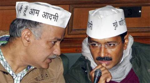 AAP leaders Arvind Kejriwal and Manish Sisodia. (PTI)