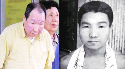 Iwao Hakamada after release; (right) the inmate in an undated photo. reuters