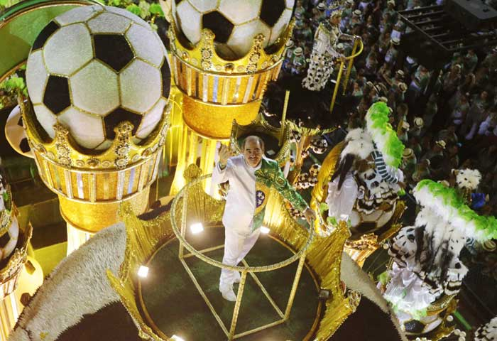 The final round of Rio de Janeiro's extravagant Carnival commenced with its usual pomp and show on March 4. And this time Sambadrome is also paving way for the world cup which Brazil is all set to host this year. (Reuters)