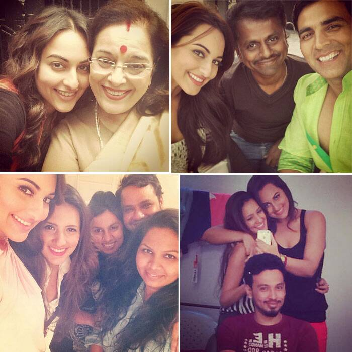 Sonakshi Sinha, who is fast entering the size zero league of actresses, keeps posting selfies on her Instagram page.