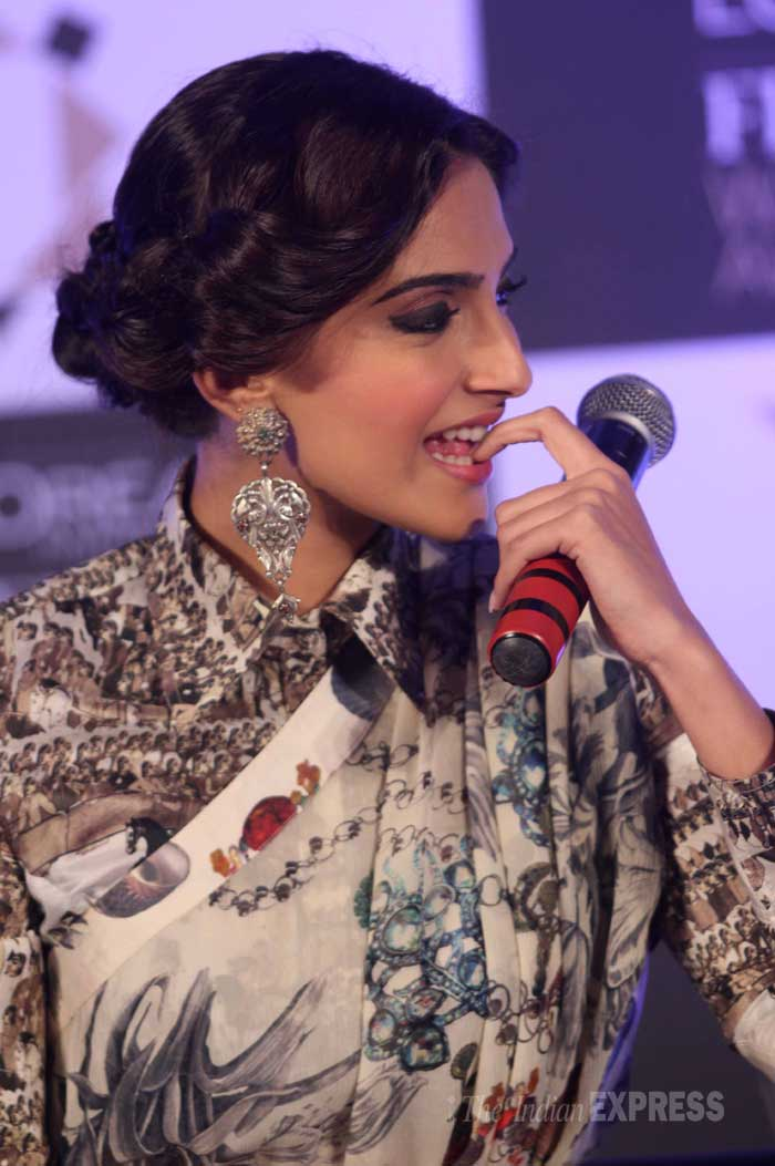 Sonam snapped unaware at the event. (Photo: Varinder Chawla)