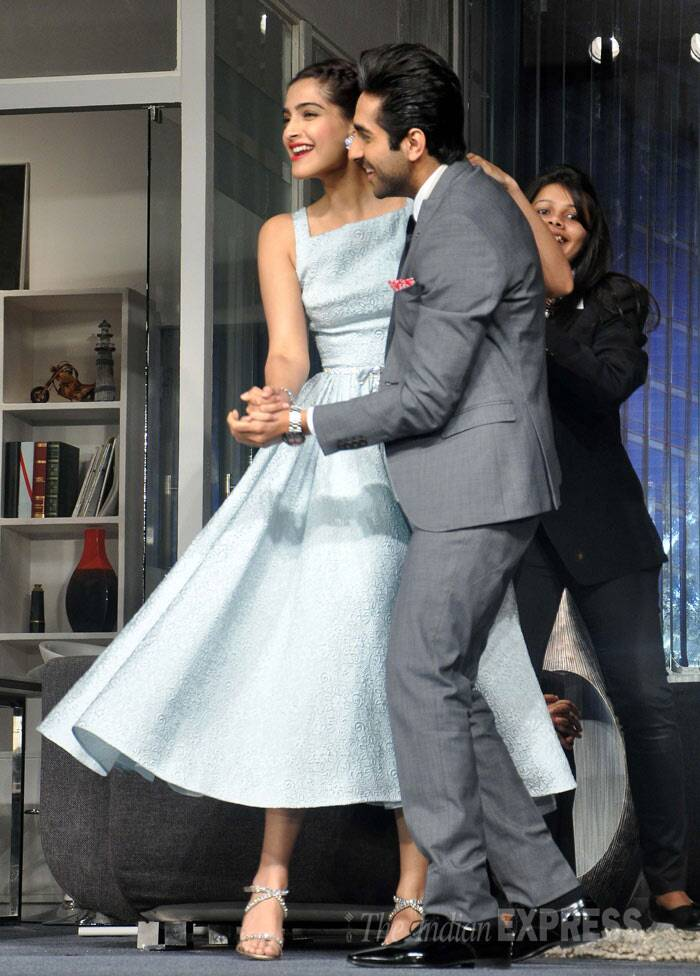 Ayushmann even convinced to Sonam to join him. (Photo: Varinder Chawla)