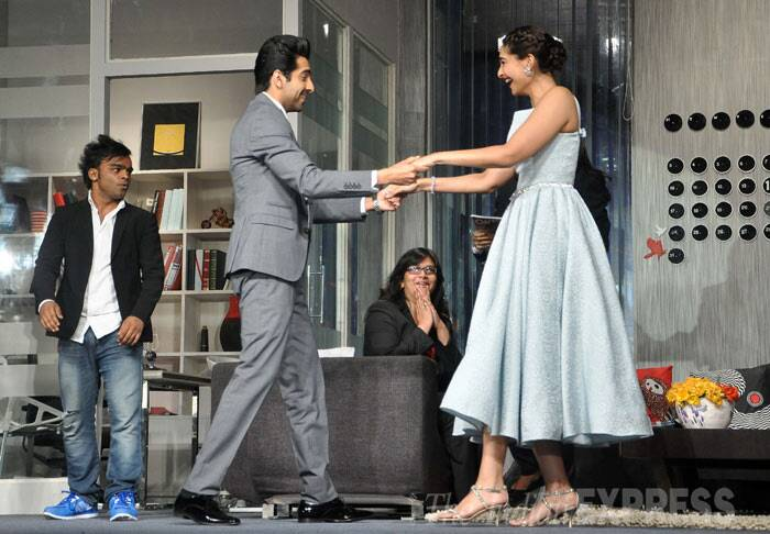 Ayushmann and Sonam shake a leg and looks like they're having a ball while doing so. (Photo: Varinder Chawla)