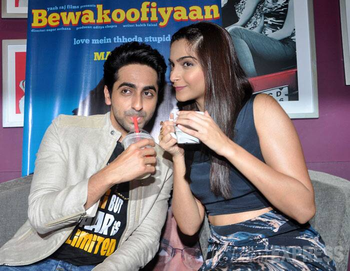 While Sonam loves a hot cup of coffee , her co-star loves to sip in cold coffee. (Photo: Varinder Chawla)