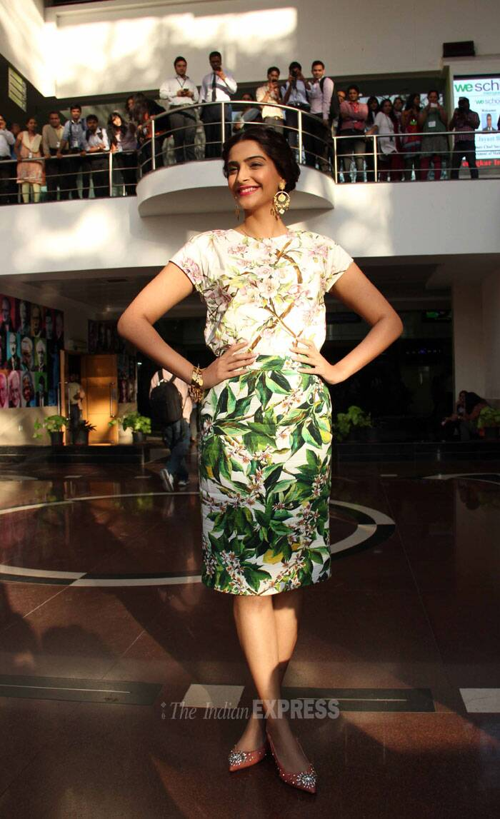 Sonam Kapoor had a ball as she basked in the limelight, stealing all the attention. (Photo: Varinder Chawla)