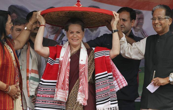 """We have fulfilled almost all promises made in the 2009 manifesto. We will do the same with the 2014 manifesto and we need your support for this,"" she said. (PTI)"