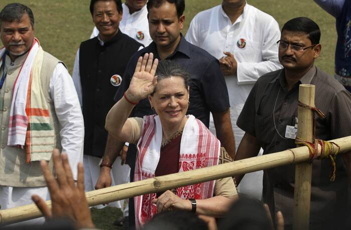 "Congress workers in Assam and other places have been sacrificing their lives for the country before independence and even after the country became free, it is they who are engaged in nation-building. ""Where was the BJP and others then? There was no sign of the opposition either before or after independence. They are just engaged in division of the country, she charged. (PTI)"