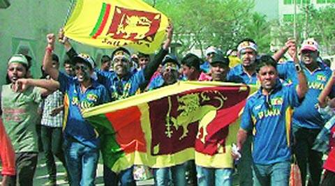 Sri Lankan fans turned out in large numbers to support their team