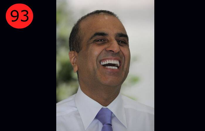 <b>Sunil Bharti Mittal</b> (56), Chairman & Group CEO of Bharti Enterprises<br /> <b>WHY</b>: He is the founder and chairman of India's largest private telecom player, Bharti Airtel, which had 192.22 million subscribers as of August 31, 2013.