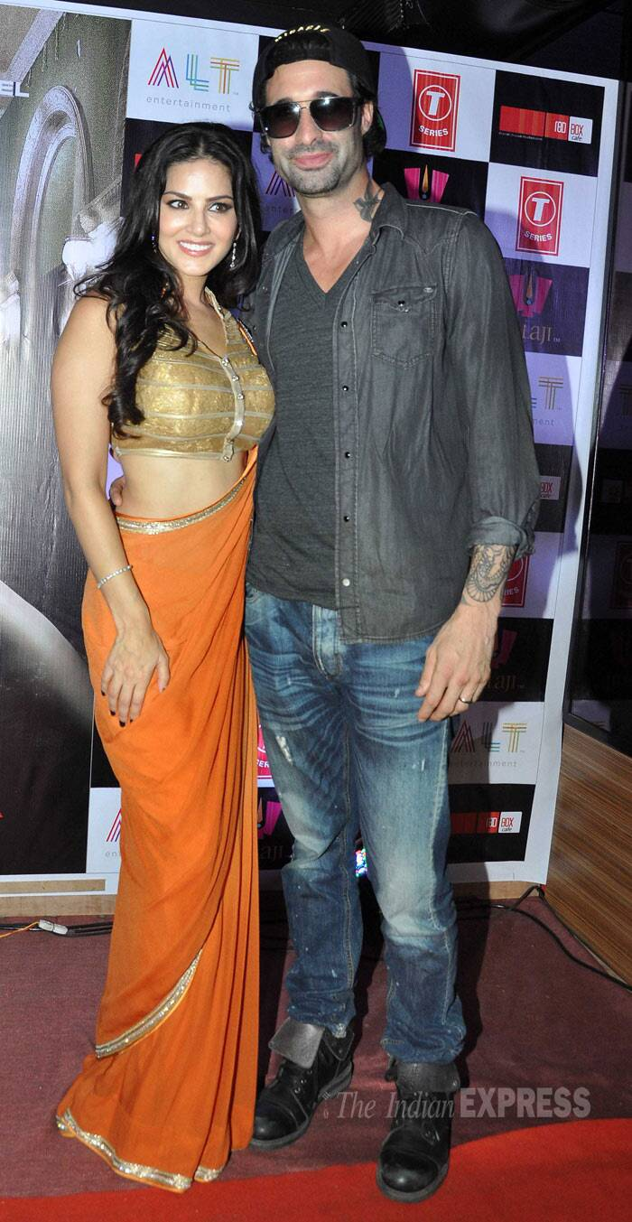 Sunny Leone was later joined by her husband Daniel Webber. (Photo: Varinder Chawla)